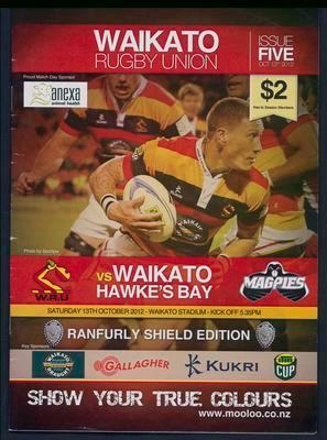 Waikato Rugby Union. Issue Five. Waikato vs Hawkes Bay