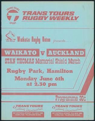 Waikato v Auckland