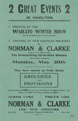 The opening of Norman & Clarke's grocery