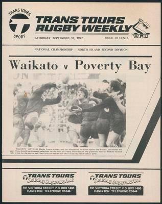 Waikato v Poverty Bay