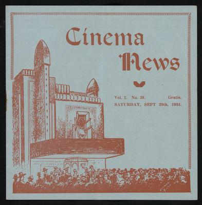 Cinema News, sept 29th 1934