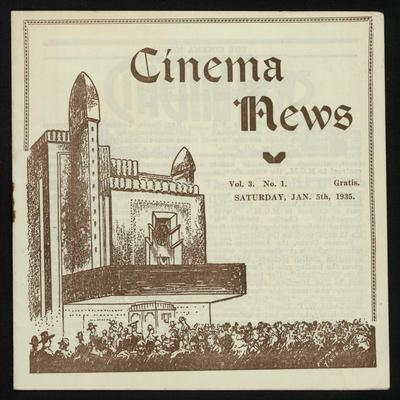 Cinema News, Jan 5th 1935