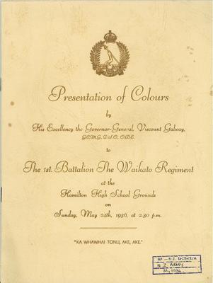 Presentation of colours