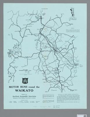 Map of Motor Runs Round the Waikato