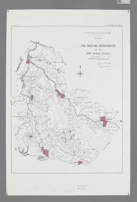 Plan of the Military Settlements in the Upper Waikato District