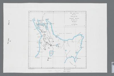 New Zealand Map shewing the sites of Flour Mills, the property of the Aborigines