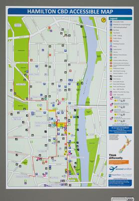 Hamilton CBD Accessible Map