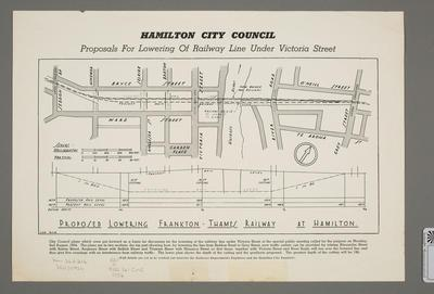 Proposal for Lowering of Railway Line under Victoria Street