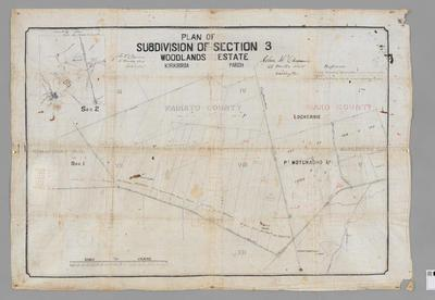 Plan of Subdivision of Section 3 Woodlands Estate