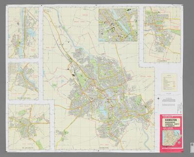 Street Map of Hamilton, Ngaruawahia, Cambridge, Huntly & Te Awamutu