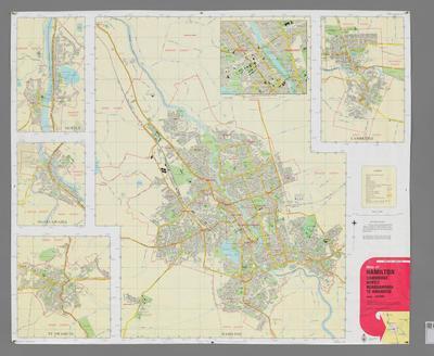 Map of Hamilton, Cambridge, Huntly, Ngaruawahia, Te Awamutu
