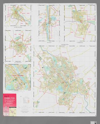 Map of Hamilton, Ngarawahia, Te Awamutu, Cambridge & Huntly