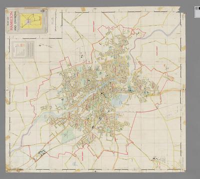 Map of Hamilton and Environs