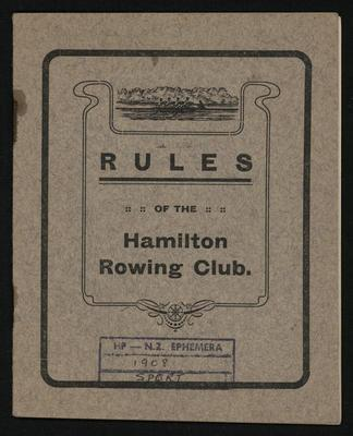 Rules of the Hamilton Rowing Club