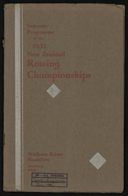 Souvenir Programme of the 1932 New Zealand Rowing Championships