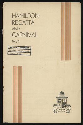 Souvenir Programme of the 1934 Annual Regatta and Carnival