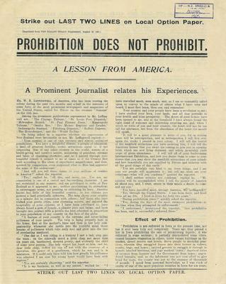 Prohibition does not prohibit
