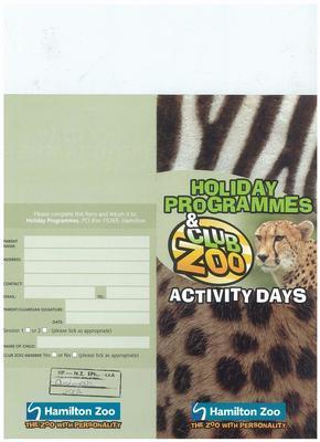 Holidays Programmes & Club Zoo Activity Days