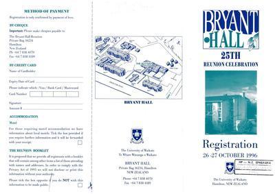 Bryant Hall 25th Reunion Celebration