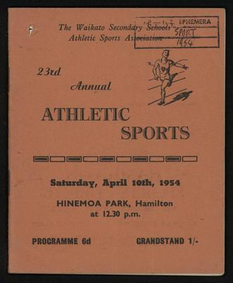 23rd Annual Athletic Sports