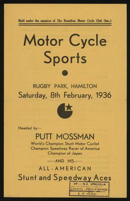 Motor Cycle Sports
