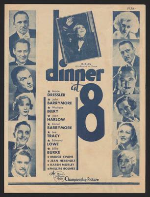 Dinner at 8