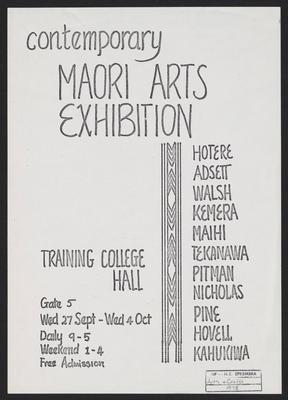 Contemporary Maori arts exhibition