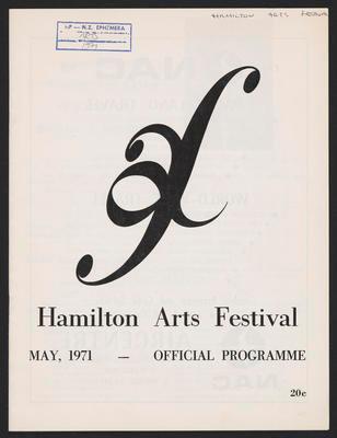 Hamilton Arts Festival May 1971, - Official Programme