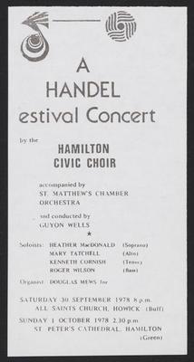 A Handel Festival Concert