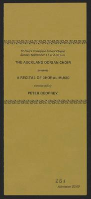 A recital of choral music