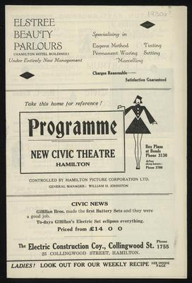 Programme for the New Civic Theatre