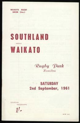 Southland versus Waikato