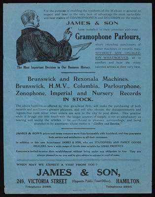 James & Son, James & Son Gramophone Parlours