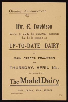 The Model Dairy