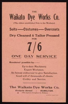 The Waikato Dye Works Co.