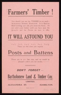 Bartholomew Land & Timber Coy Ltd