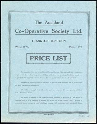 Auckland Co-operative Society, Auckland Co-operative Society Ltd