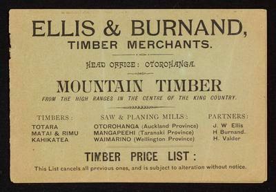 Ellis & Burnand Timber Merchants