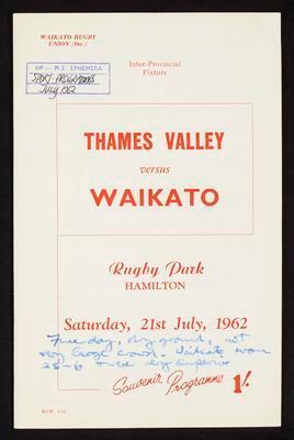 Thames Valley vs Waikato