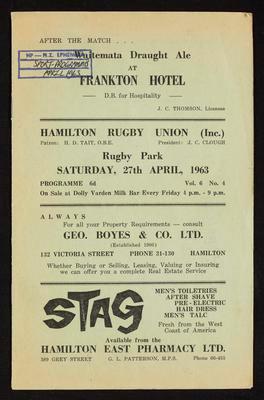 Hamilton Rugby Union