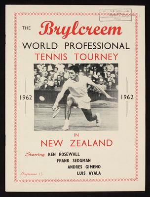 The Brylcreem World Professional Tennis Tourney in New Zealand