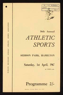 36th Annual Athletic Sports