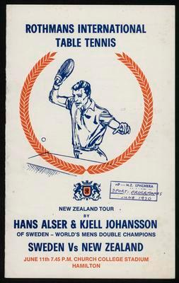 New Zealand tour by Hans Alser and Kjell Johansson Sweden vs New Zealand