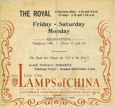 Oil for the Lamps of China