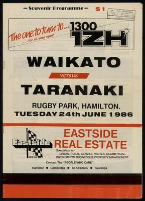 Waikato versus Taranaki