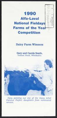 1990 Alfa-Laval National Fieldays Farms of the year Competition
