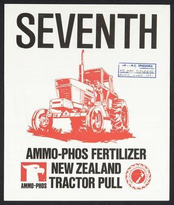 Seventh Ammo-phos Fertilizer New Zealand Tractor Pull