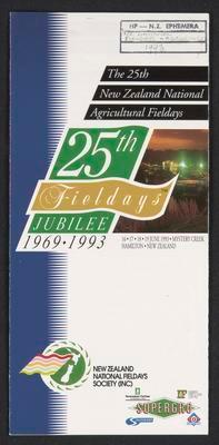 25th Fieldays jubilee 1969 1993