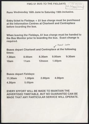 FMG $1 bus to the Fieldays