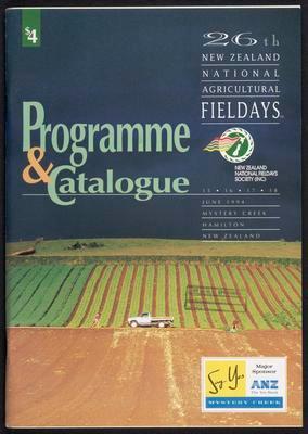 Programme & catalogue 26th New Zealand National Agricultural Fieldays